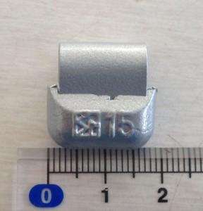 鉛製アルミ打込みウエイトNO5小箱15g(22個/箱)10箱