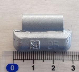 鉛製アルミ打込みウエイトNO5小箱25g(18個/箱)10箱
