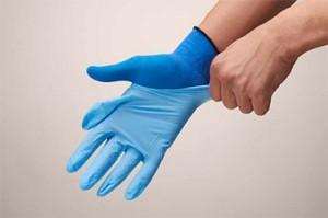 EXフィット手袋20枚入 ブルー Mサイズ